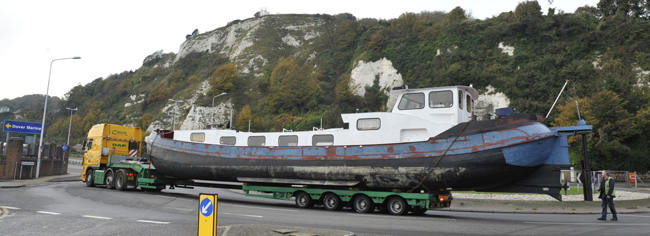 Barge Loaded at Dover